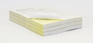 Doorschrijfformulieren als losse doorschrijfsets of in een doorschrijfblok.